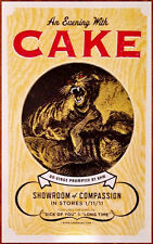 CAKE Showroom Of Compassion Ltd Ed Discontinued New RARE Poster+FREE Rock Poster