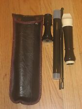 Aulos recorder Flute with case & cleaning rod made in Japan