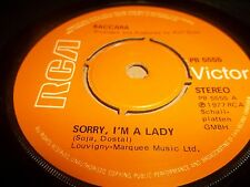 "BACCARA "" SORRY I'M A LADY "" 7"" SINGLE RCA 1977 EXCELLENT"
