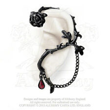 Rose of Passion LEFT Ear Wrap blood drop romantic crystal By Alchemy Gothic
