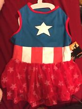 Dog Apparel- ( Captain America Dress ) Pet Costume MED  NWT