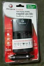 Targus 2 hr rapid ac/dc AA, and AAA battery charger