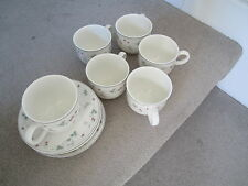 ROYAL DOULTON EXPRESSIONS STRAWBERRY FAYRE SIX CUPS & SAUCERS