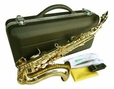 NEW BRASS CURVED SOPRANO SAXOPHONE SAX W/CASE-QUALITY+ WARRANTY.