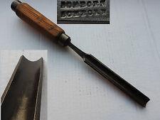 ancien outil ciseau a bois de sculpteur old tool gouge de menuisier creuser16 mm