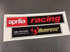 1 Adesivo Sticker AKRAPOVIC APRILIA Factory resistente al calore