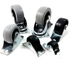 FIXED WHEEL / SWIVEL / BLACK / NYLON CASTORS, SOFT TREAD, 20mm 28mm 40mm, 50mm