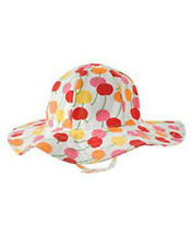 NWT 12-24 Months Gymboree CHERRY BABY White Cherry Print HAT Chinstrap