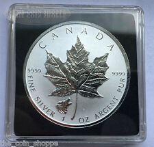 2016 1 oz Wolf Privy Canadian Silver Maple Leaf Reverse Proof Coin QUADRUM CAP