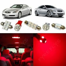 9x Red LED lights interior package kit for 2008-2014 Infiniti G37 Coupe IG3R