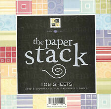 "108 sheets 6""x6"" PAPER STACK DCWV Patterns Prints Scrapbooking 6x6 Pad Pack"