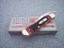 CASE XX *~ LIMITED EDITION BOMB SHIELD BRICK RED BONE RUSSLOCK KNIFE KNIVES