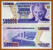 Turkey, 500,000 (500000) Lira, L. 1970 (1993) P-208, UNC