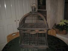 "Vintage Decorative Wood & Wire Bird Cage 25"" Tall With Slide Open Bottom"