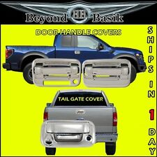 2004-2014 F150 Chrome 2 Door Handles 1KH W/kpad+Tail Gate Cover w/Camera & Key