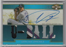 2011 Topps Triple Threads UBALDO JIMENEZ Jersey Patch Auto 1/3