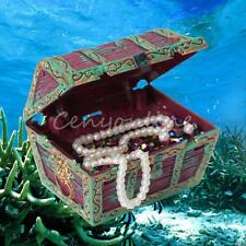 Aquarium fish tank ornament air action treasure chest under water decoration