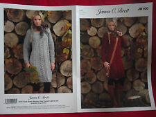 James C Brett - Ladies Sweater Dress Aran Knitting Pattern - JB100