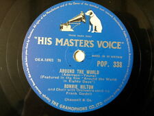 """78 rpm 10"""" RONNIE HILTON around the world / i'd give"""