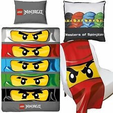 Lego Ninjago Eyes Duvet Cover & Canvas Cushion & Fleece Blanket Bedroom Set