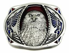 Eagle Belt Buckle American Western Themed Bird Authentic C & J Buckles Product