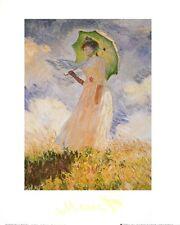 Claude Monet Donna con parasole I Poster Kunstdruck Bild 30x24cm