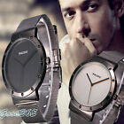 Mens Watch Fashion Black Stainless Steel Luxury Sport Analog Quartz Wrist Watch