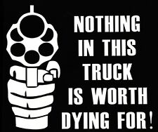 NOTHING IN THIS TRUCK funny car van, windows, lorry JDM vinyl decal sticker