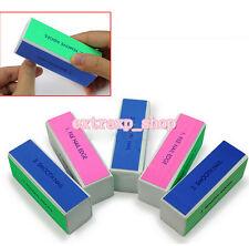 5Pcs/Set Beauty Nail Art Manicure 4 Way Shiner Buffer Buffing Block Sanding File