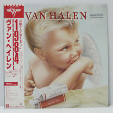 VAN HALEN - S/T LP 1984 JAPAN PRESS VINYL WARNER HARD ROCK METAL w/ obi, insert