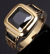 Jewelry For Men Size 10 Gorgeous Black Topaz 10KT Gold Filled Engagement Rings