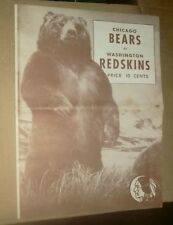 1944 CHICAGO BEARS VS WASHINGTON REDSKINS FOOTBALL GAME PROGRAM