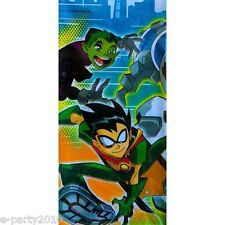 TEEN TITANS PLASTIC TABLECOVER ~ DC Comics Super Heroes Birthday Party Supplies