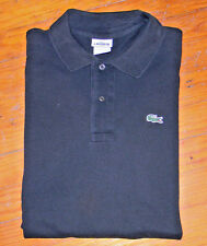 LACOSTE MENS POLO GOLF SHIRT SIZE 7 BLACK GUC LIGHT FADING XL