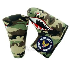 Fighter Plane Head Cover for Bettinardi, Ping Blade Midsize Mallte Putter Canvas