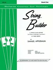 String Builder  Violin Book One (Belwin Course for Strings) by Samuel Applebaum,