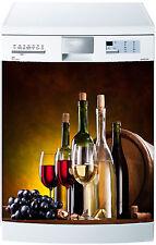 Sticker lave vaisselle déco cuisine électroménager Vin réf 595 60x60cm
