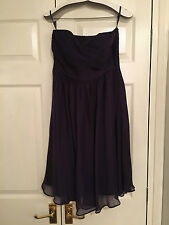 COAST:::COSTA SHORT DRESS:::GRAPE:::SIZE 12:::BRIDESMAID:::RRP £115:::NEW W/TAGS