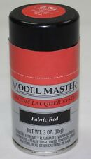TESTORS MODEL MASTER - Lacquer Spray Paint - FABRIC RED 28144
