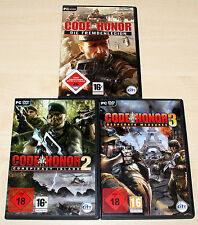 3 PC SPIELE - CODE OF HONOR 1 2 3 - FREMDENLEGION CONSPIRACY DESPERATE MEASURES