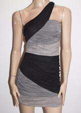 Ladakh Designer Black Ruched One Shoulder Party Dress Size S BNWT #SA10