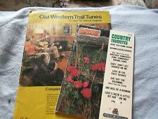 Old Western Trail Tunes for C&G Chord Organs C-5 music & 1983 Country Favorites