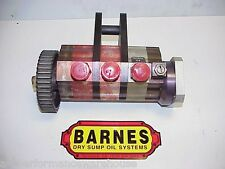 Barnes 3 Stage Dry Sump Oil Pump  & PS Adapter for a Bert Brinn Rear Mount. TD5