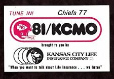 1977 KANSAS CITY CHIEFS NFL OOTBALL POCKET SCHEDULE