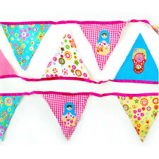 New Fabric Russian Doll Babushka Banner Bunting party baby room 12 Flags 3.2m