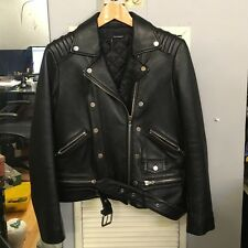 The Kooples Womens Soft Black Leather Biker Jacket 34 6 8 XS £595 Saints Acne