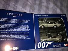 James Bond,  SPECTRE  Aston Martin DB5 and DB10   corgi car model set