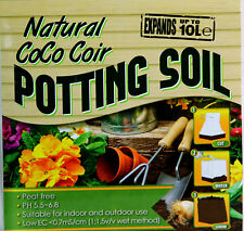 New Natural Coco Coir Potting Soil Expands UP To 10L Indoor & Outdoor Plant