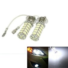 2x New Car H3 68 SMD LED White Auto Head Fog Light Headlight Lamp Bulb 12V DC US