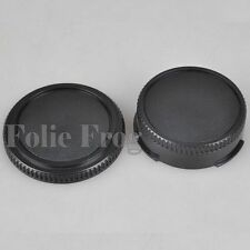 Front Body Cover & Rear Lens Cap for Canon FD Camera and Lens Protect
